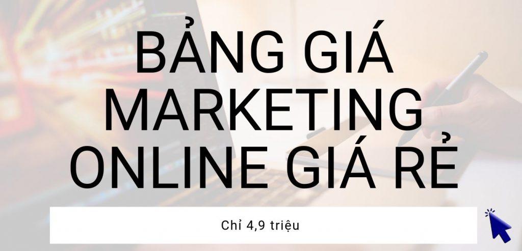 bảng giá marketing online